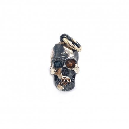 Skull pendant in silver and gold